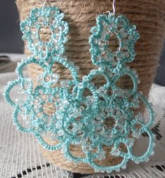Tatting earrings from Poland by DorotaWalenciak on Etsy