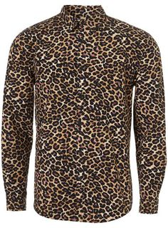 Brown Leopard Shirt by Topman... boyfriend would hate this, but I love it.  Hahaha