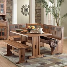 Sunny Designs Sedona 4 Piece Breakfast Nook Set. Dining Table ... & 54 Best Corner Dining Table images | Kitchen dining Lunch room ...