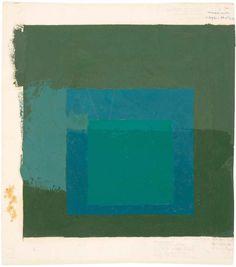 igormaglica:  Josef Albers (1888-1976), Study for screenprinting EK If, c. 1970. oil on paper, 33,7 x 30,5 cm