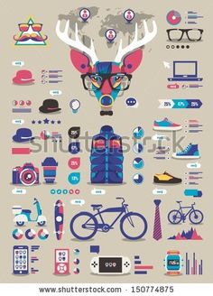 hipster info graphic elements and icons,vector background by filip robert, via Shutterstock