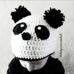 Gorro de Oso Panda a Crochet
