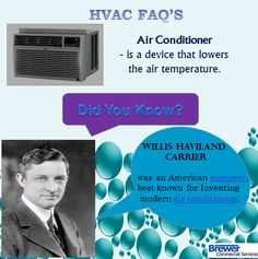 #HVAC Facts learning is fun. brewercommercialservices.com