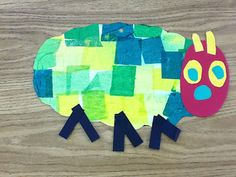 Very Hungry Caterpillar art project