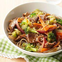Diabetic Spring recipes:  Sweet Asian Beef Stir-Fry