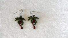 Free Standing Lace Machine Embroidery Earrings by TheStitchNitch, $10.00