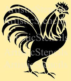 Rooster Stencil 10 Inch by ArtisticStencils on Etsy