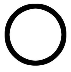 The Christian circle represents eternity (how that can be a Christian thing beats me really ...