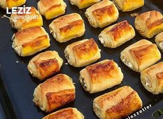 Mini Mini Katmer Börek Hot Dog Buns, Hot Dogs, Hamburger, Muffin, Bread, Breakfast, Recipes, Food, Bulgur