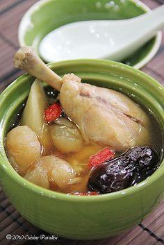 Chicken, Longan and Burdock Soup   (Blood Pressure)