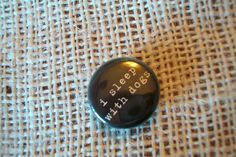 Dog Lover Magnet  I Sleep With Dogs 99 each by cdkane59 on Etsy, $0.99