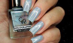GOLDEN ROSE HOLOGRAFIC CALA KOLEKCJA Nail Polish Style, Holographic Nails, Beauty Make Up, Natural Nails, How To Do Nails, Pretty Nails, Nail Colors, Fashion Beauty, Nail Art