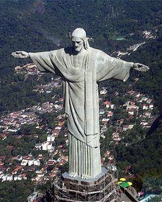Christo Redentor de Los Andes statue  in Corcovado Mountain