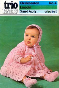 Vintage PDF Baby Crochet Pattern Cleckheaton 4 by 1vintagescot, $1.75
