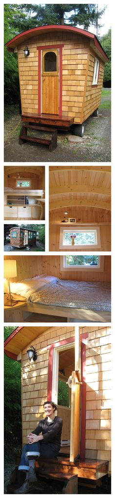 tiny house tiny house tiny house! How would you like to live in this tiny house? It's a caravan!