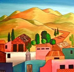 Mexican Village ~ Vicky Peacock