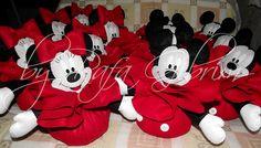 Pesos de porta para serem usados em centro de mesa - Festa Mickey e Minnie