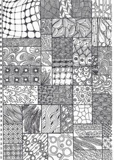 Patrones coloring doodle art, drawings и zentangle patterns Zentangle Drawings, Doodles Zentangles, Doodle Drawings, Zentangle Art Ideas, Easy Zentangle Patterns, Zen Doodle Patterns, Doodle Borders, Mandala Pattern, Quilt Pattern
