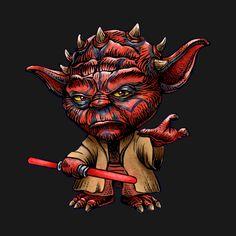 Awesome 'Darth+Yoda' design on TeePublic!