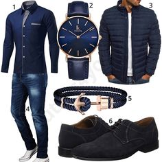 Dunkelblauer Style mit Uhr, Armband und Jeans (m0983) #uhr #armband #jeans #hemd #schuhe #business #gentlemen #outfit #style #herrenmode #männermode #fashion #menswear #herren #männer #mode #menstyle #mensfashion #menswear #inspiration #cloth #ootd #herrenoutfit #männeroutfit