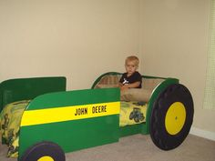 jpg driving the tractor John Deere Bed, John Deere Room, Tractor Bedroom, Toddler Rooms, Toddler Bed, Car Bed, Toy Rooms, Man Room, Furniture