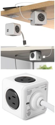I already got one, but detinitely need another one – they are brilliant ::: Allocacoc 4 Travel Plugs PowerCube Power Socket 4 Outlets Two USB Ports Charger Adapter / http://TechNews24h.com