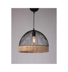 Metal and rattan light Home Lighting, Lighting Design, Natural Light Shades, Luminaria Diy, Rattan Lamp, Pipe Lamp, Baskets On Wall, Lampshades, Diy Furniture
