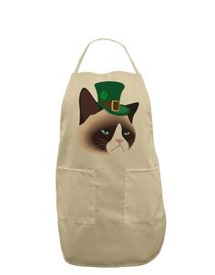 TooLoud Leprechaun Disgruntled Cat Adult Apron