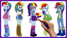 ✿ My Little Pony Equestria Girls: Rainbow Dash Coloring Book For Kids - ...