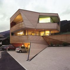 architecture exterior cube house Adapted to a Perfect Landscape: Cube House in the Dolomite Mountains