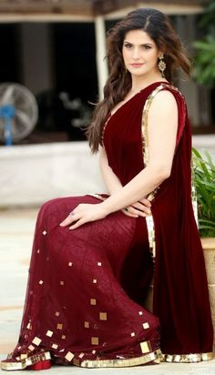 Zareen Khan Bollywood actress is part of Zarine khan - Zarine Khan, Bollywood Designer Sarees, Bollywood Fashion, Bollywood Actress, Fashion Designer, Indian Designer Wear, Saris, Indian Dresses, Indian Outfits