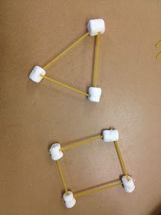 Figuras geométricas con spagettis
