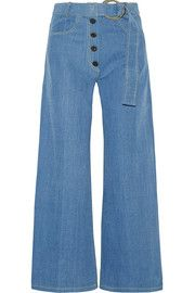 Rejina Pyo Emily belted high-rise wide-leg jeans