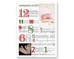Twelve Days of Christmas Holiday Card 2012 by FourHarpDesigns #typography