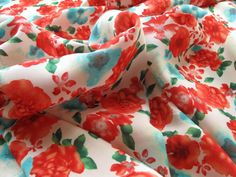 Poppy Viscose - Red dress fabric
