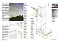 Doble página correspondiente al proyecto de Steven Holl Architects para la ampliación del Museo Nelson-Atkins. Detalle.
