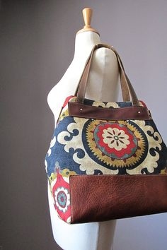 Cotton Leather tote bag  leather bag  Natural  by VitalTemptation, $145.00