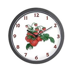 CafePress Strawberries Wall Clock  Standard Multicolor Kitchen * To view further for this item, visit the image link.