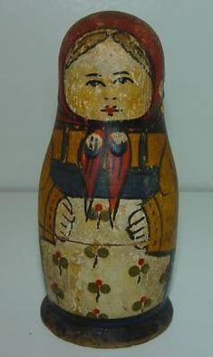 Antique Nesting Matryoshka Dolls 19th or Early 20th C