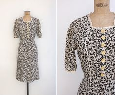 1930s Dress  Vintage 30s Day Dress  Isabella by GoldenCraneVintage