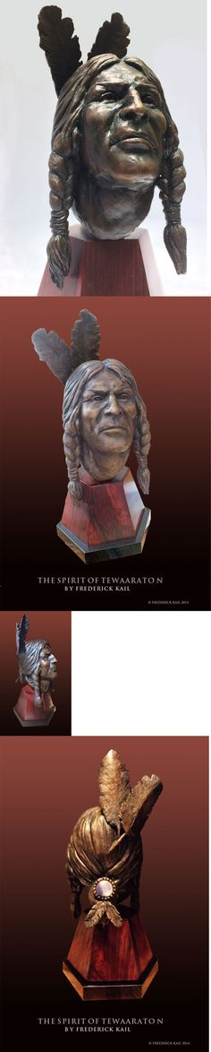 Other Lacrosse 16043: The Spirit Of Tewaaraton Lacrosse Bronze Artist Proof Sculpture By Fred Kail -> BUY IT NOW ONLY: $2300 on eBay!