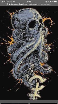 55 Ideas pop art drawings skull for 2019 Tattoo Sketches, Tattoo Drawings, Body Art Tattoos, Sleeve Tattoos, Art Drawings, Tattoo Art, Octopus Tattoo Design, Octopus Tattoos, Kraken Art