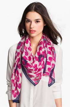 Jonathan Adler 'Birds' Oversized Scarf -  sheer & modal scarf   modern and iconic. Pretty mixed with any bright color - I wear it with bright green!