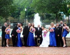 best photo ever.summed up the whole day with my bridal party.tons of fun! Bridesmaids And Groomsmen, Bridesmaid Dresses, Wedding Dresses, Groomsmen Colours, Cobalt Wedding, Wedding Parties, Cool Photos, Bridal, Colors