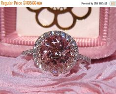 HOLIDAY SALE... Peachy Pink Morganite Engagement by JuliaBJewelry