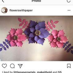 """63 Likes, 3 Comments - Garden Walls By Rosanny A. (@gardenwalls) on Instagram: """"Buenos Días!! Si te interesa aprender a crear estas hermosas flores regístrate al próximo taller!!…"""""""