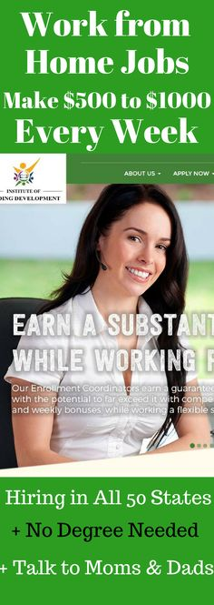 Work from Home Jobs. Work at Home Jobs for Work at Home Moms and Stay at Home Moms. Legitimate Work from Home Jobs and Side Hustle Ideas for Moms. Make Between $500 and $1000 Per Week from Home. #love #recipe #diy #workfromhome