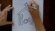 How to Draw a Nativity Scene Simple and Easy Drawing Tutorial for Beginners