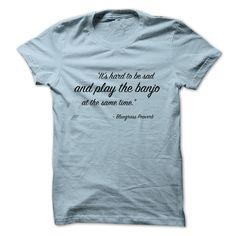 (Tshirt Top Tshirt Deals) No Sad Songs on the Banjo Shirt design 2016 Hoodies, Funny Tee Shirts
