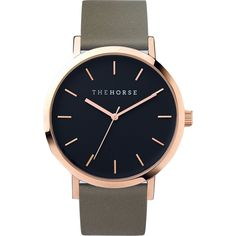 The Horse Original Rose Gold Watch | Black/Olive - Black Olive
